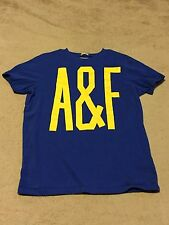 MENS ABERCROMBIE AND FITCH A&F YELLOW BLUE MUSCLE T-SHIRT SIZE XXL RETAIL $40