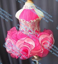 INFANT/TODDLER/BABY/CHILDREN/KIDS LACE CRYSTAL BEADED PAGEANT PARTY DRESS G100-1