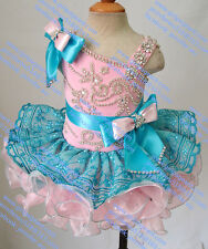INFANT/TODDLER/BABY/CHILDREN/KIDS BOW CRYSTAL  BEADED PAGEANT PARTY DRESS G218-3