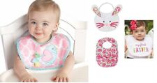 Mud Pie MEA6 Easter Baby Girl Feeding Bib – First Easter, Bunny, Chick Or Floral