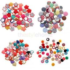 50x Hot Sale Multi-Purpose Scrapbooking Flatback Appliques Buttons DIY Crafts