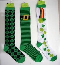 New St. Patrick's Day Shamrock Knee High Socks Adult One Size Select patterns