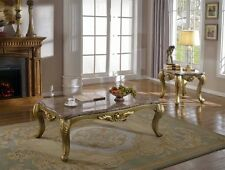 Valencia Rich Gold Coffee Table & End Table  |  FREE SHIPPING!!