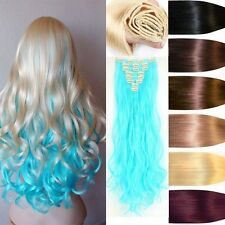 US Lady Women New Thick Clip In Full Head Hair Extensions Real As Human Hair Fl2