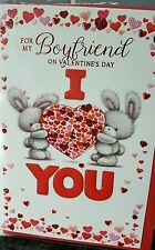 * Valentines Greetings Cards ~ BOYFRIEND ~ Free Postage ~ I LOVE YOU BUNNIES *