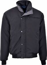 BRAND NEW MENS WARM PADDED CHECK LINED SKY DIVER BOMBER JACKET COAT SIZES S-2XL