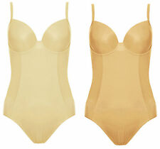Ex- M&S Marks and Spencer Firm Control Body Shaper Underwired Padded Cup No VPL