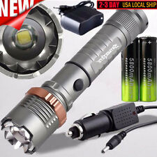 Tactical Police CREE XML T6 4000LM LED Zoomable Flashlight+18650 Battery+Charger