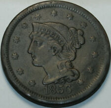 1856 Large Cent Braided Hair Slanted 5 [SN02]