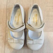 MONTELPARE BABY GIRL SHOES SZ 20, 22 WHITE ECRU DALLS Bridesmaid Mary Janes NWOB