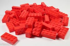 LEGO Red Brick 2x4 - Brand New (Lot of 50 Pieces)