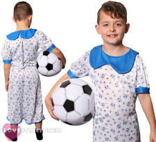 CHILD BOY IN A DRESS COSTUME FLORAL WITH FOOTBALL SCHOOL BOOK WEEK FANCY DRESS