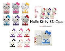 Hello Kitty 3D Cartoon Case Cover For SAMSUNG S3 S4 & S5 Smart Phone & Androids