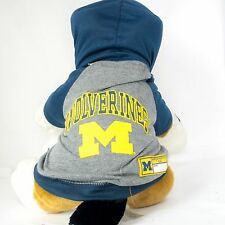 Michigan Wolverines Dog Hoodie Shirt NCAA Officially Licensed Pet Product