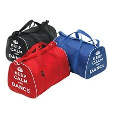 KEEP CALM AND DANCE HOLDALL BAG PINK, RED, ROYAL, BLUE, BLACK & LILAC