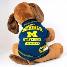 Michigan Wolverines Dog Shirt Football NCAA Officially Licensed Pet Product