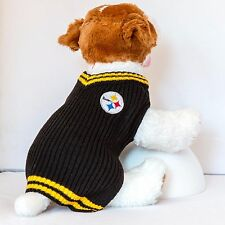 Pittsburgh Steelers Dog Sweater V-neck NFL Football Official License Pet Product