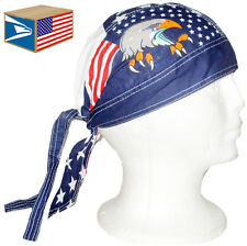 SKULL CAP USA American Eagle Flag HUNTING DU DOO RAG TIE BACK HAT LOT 1/2/3/6/12