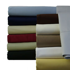 Solid 300 TC Super Single Attached Waterbed Sheet Set with Pole attachments