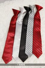 Boys  Formal Tie Red/ Black/Grey Plain or Stripe Age 5-10 or 10-15 Years New