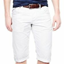William Rast Men's White Cuffed Denim Short