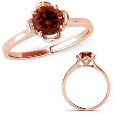 0.5 Carat Red Diamond V Prong Solitaire Beautiful Wedding Ring 14K Rose Gold