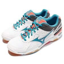 Mizuno Wave Twister 4 White Blue Orange Women Volleyball Badminton V1GC157084