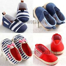 Baby Boy Girl Casual Crib Shoes Infant Toddler Anti-Slip Prewalker 3 Sizes #BS59