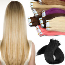 20/40pcs Tape in 100% Real Remy Human Hair Extensions EP Virgin Skin Weft Party