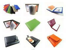 Womens Mens Premium Real Leather Credit Card Holder Coin Purse Wallet 20 cards