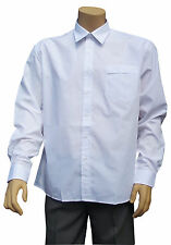 CATHEDRAL Dress Shirt Mens Long Sleeved Bowls White Polyester Cotton 16.5 - 18