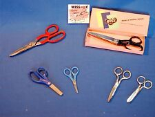 Lot of (2) Vintage Wiss Sewing & Kitchen Shears, Pinking, Scissors & Others