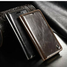 F HTC One M9 Case Luxury Business Leather Magnetic Auto Flip Wallet Card Holder