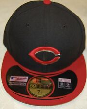 Cincinnati REDS ALTERNATE BlackRed New Era 59FIFTY Fitted Caps MLB On Field Hats