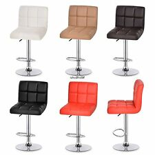 2 Bar Stools Leather Modern Hydraulic Swivel Dinning Chair Pair Barstools US
