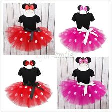 USA Baby Toddler Girl Minnie Mouse Costume Party Outfit Xmas Fancy Tutu Dress up