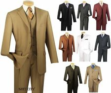 Men's Suit Single Breasted 3 Buttons 3 Piece Classic Fit Solid Colors 3TR-3