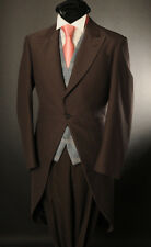 MJ-2 MEN'S CHOCOLATE BROWN MORNING TAIL SUIT IDEAL FOR ASCOT/WEDDING/EVENT/SALE