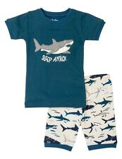 "HATLEY Boys Toothy Sharks ""Sleep Attack"" Pyjamas Set (Short Cotton PJ's) - NEW"