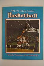 Vintage Basketball Media Press Guide Middle Tennesee State University 1974 1975