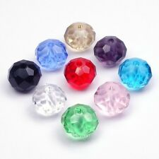 Glass beads Farbmix Crystal Bead Glass Facet cut faceted Rondelle 8mm