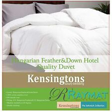 LUXURY HOTEL QUALITY GOOSE FEATHER AND DOWN DUVET QUILT ALL SIZES 6.5 TOG 85/15