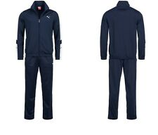 Puma Mens Tracksuit Soccer Training Suit Poly Track Top Pants Suit Navy 819298
