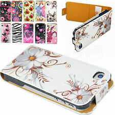 Magnetic Flip Leather Skin Card Phone Accessories Case Cover For iPhone 4 4G 4S