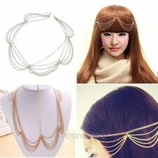 Chic Charming Women Metal Head Chain Jewelry Girls Headband Head Piece Hair Band