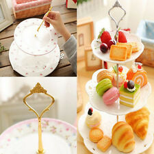 POP 1 Sets 2 or 3 Tier Cake Plate Stand Handle Crown Fitting Metal Wedding Party