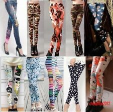 Sexy Womens Pants Punk Funky Leggings Stretchy Pencil Skinny  Ladies Pants