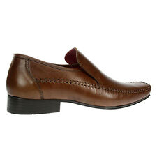 Red Tape Whittle Mens Tan Leather Smart Slip on Formal Shoes