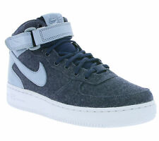 NEW NIKE Air Force 1 '07 Mid Ladies Real leather Sneaker Blue 857666 400