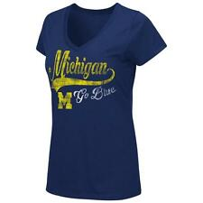 University of Michigan Wolverines Women's Tee Short Sleeve V-Neck T-Shirt